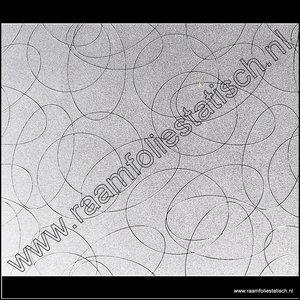 Statische raamfolie Cirkels 70cm x 2meter
