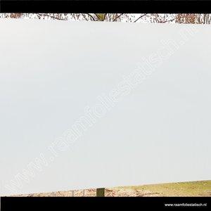 Standaard inkijkwerende statische melkglasfolie mat premium 45cm