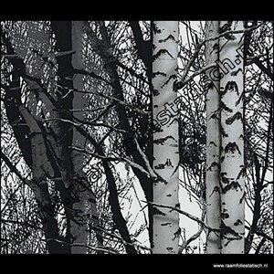 Statische raamfolie bomen Verticaal