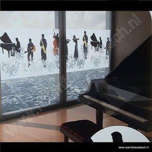 Statische raamfolie Muziek 70cm