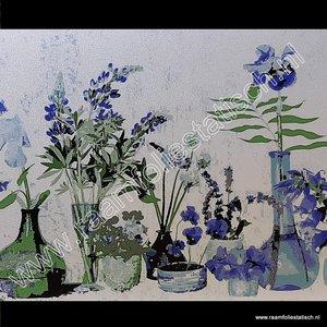 Statische raamfolie Cottage bloemen premium 45cm d-c-fix