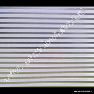 Statische raamfolie witte strepen mat 90cmx1,5m