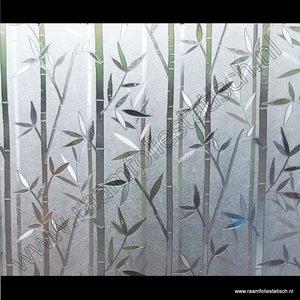 Statische raamfolie Bamboe verticaal 67,5cmx1,5m db