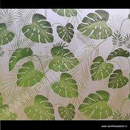 Statische raamfolie Tropische bladeren 70cm x 2m