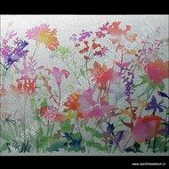 D-c-fix static premium raamfolie Flora kleuren 45cm x 15m (Miraflores)