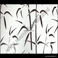 Statische raamfolie bamboe verticaal 45cm x 1,5m