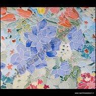 Raamfolie glas in lood tulpen
