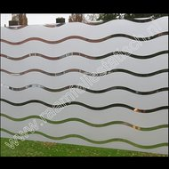 Breed statische raamfolie strepen golvend