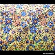 plakfolie gekleurde bloemen