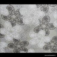 statische raamfolie bloemmotief 90cm breed