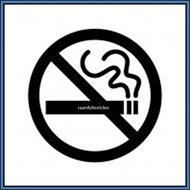 Niet-roken-sticker