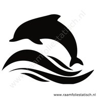 Dolfijn-wave-sticker