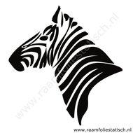 Zebrahoofd-sticker