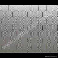 Statische raamfolie Hexagon 92cm