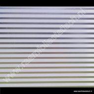 Statische raamfolie witte strepen mat 67,5cmx1,5m