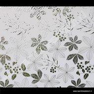 Statische raamfolie bladeren wit 67,5cmx1,5m