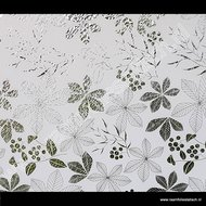 Statische raamfolie bladeren wit 45cmx1,5m