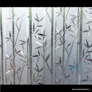 Statische raamfolie Bamboe verticaal 45cmx1,5m